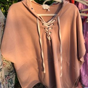 Free people lace up poncho